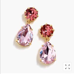 J crew pink drop earrings NWT